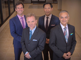 Group photo of Dr. Elieff, Dr. Ku, Dr. Snook and Dr. Gupta